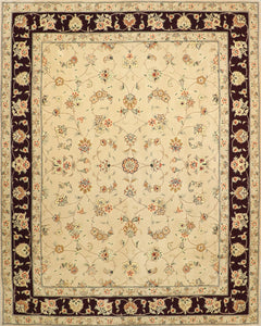 "7'11""x9'11"" Traditional  Tabriz Wool & Silk Hand-Tufted Rug"