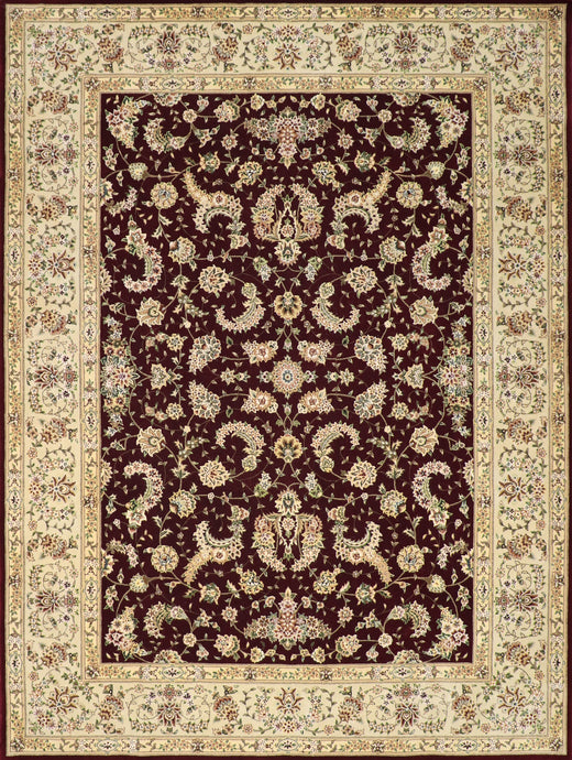"8'6""x11'4"" Traditional Tabriz Red Wool & Silk Hand-Tufted Rug - Direct Rug Import 