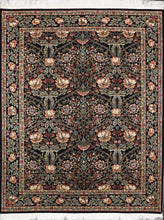"Load image into Gallery viewer, 8'x9'11"" Traditional Black Wool Hand-Knotted Rug - Direct Rug Import 