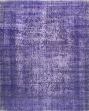 "Load image into Gallery viewer, 9'7""x12'1"" Transitional Purple Wool Hand-Knotted Rug - Direct Rug Import 