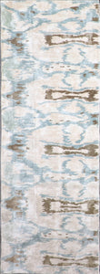 "3'2""x8'9"" Contemporary Silk Hand-Tufted Rug - Direct Rug Import 