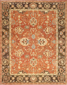"8'3""x10'4"" Classic Traditional Wool Hand-Knotted Rug - Direct Rug Import 