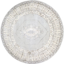 "Load image into Gallery viewer, 8'5""x8'5"" Decorative Round Vintage Wool & Silk Hand-Tufted Rug - Direct Rug Import 