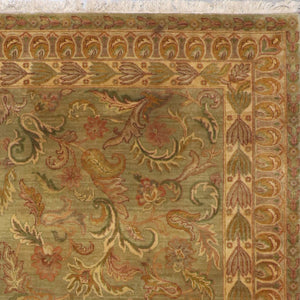 8'x10' Decorative Green Kashan Wool Hand-Knotted Rug - Direct Rug Import | Rugs in Chicago, Indiana,South Bend,Granger