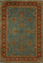 "Load image into Gallery viewer, 6'1""x8'9"" Traditional Teal Classic Wool&Silk Hand-Knotted Rug - Direct Rug Import 