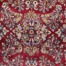 "Load image into Gallery viewer, 4'2""x6'5"" Traditional Persian Heriz Red Wool Hand-Tufted Rug"