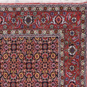 "4'4""x7'2"" Traditional Persian Bidjar Red Wool Hand-Knotted Rug"