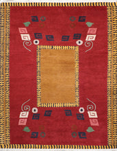 "Load image into Gallery viewer, 8'1""x10'1"" Decorative Tibetan Red Wool Hand-Knotted Rug - Direct Rug Import 