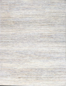 "8'10""x11'9"" Contemporary Tan Nepal Wool Hand-Knotted Rug - Direct Rug Import 