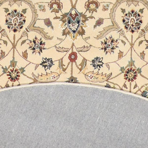 "8'6""x8'6"" Traditional Round Wool & Silk Hand-Tufted Rug - Direct Rug Import 