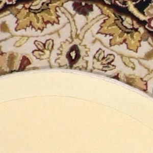 "2'10""x2'10"" Decorative Ivory Round Wool Rug - Direct Rug Import 
