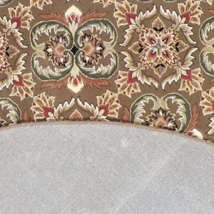 "8'6""x8'6"" Decorative Round Wool & Silk Hand-Tufted Rug - Direct Rug Import 
