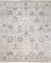 "Load image into Gallery viewer, 5'8""x7'8"" Contemporary Tibetan Cream Wool & Silk Hand-Knotted Rug"
