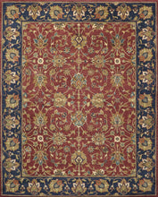 Load image into Gallery viewer, 8'x10' Traditional Kashan Navy Wool Hand-Tufted Rug