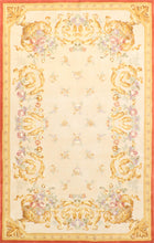 "Load image into Gallery viewer, 5'1"" X 8' Traditional Abusson Wool Hand-Tufted Rug"