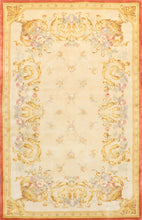 "Load image into Gallery viewer, 5'1""x8' Wool Aubusson Hand-Tufted Rug"