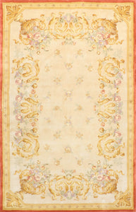 "5'1""x8' Wool Aubusson Hand-Tufted Rug"