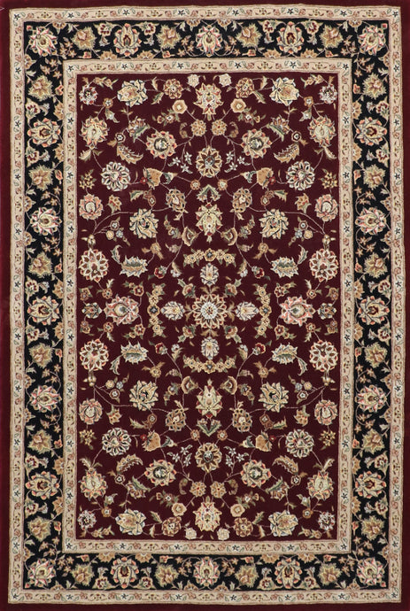 5'3'' X 8' Traditional Persian Tabriz Wool & Silk Rug