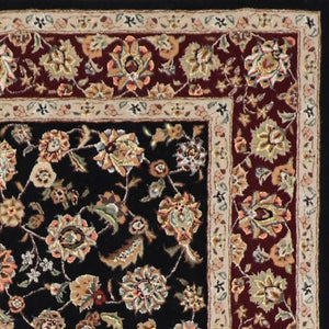 "5'3""x8' Traditional Tabriz Wool & Silk Hand-Tufted Rug"