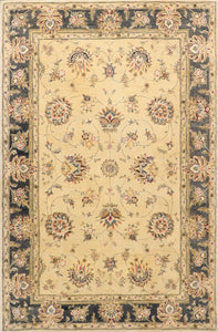 "5'9""x9' Traditional Kashan Wool Hand-Tufted Rug"