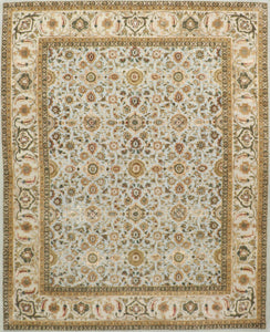 "8'1""x10'2"" Traditional Wool & Silk Hand-Tufted Rug"
