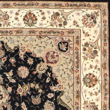 "Load image into Gallery viewer, 7'x9'1"" Traditional Tabriz Wool & Silk Hand-Tufted Rug"