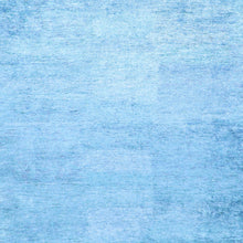 "Load image into Gallery viewer, 9'x11'10"" Contemporary Solid Blue Bamboo Silk Hand-Tufted Rug"