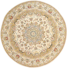 Load image into Gallery viewer, 8'x8' Traditional Round Wool & Silk Hand-Tufted Rug