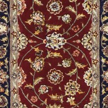"Load image into Gallery viewer, 2'7""x8'1"" Decorative Burgundy Wool & Silk Hand-Tufted Rug"
