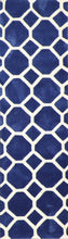 "Load image into Gallery viewer, 2'3""x8' Contemporary Blue Wool Hand-Tufted Rug"