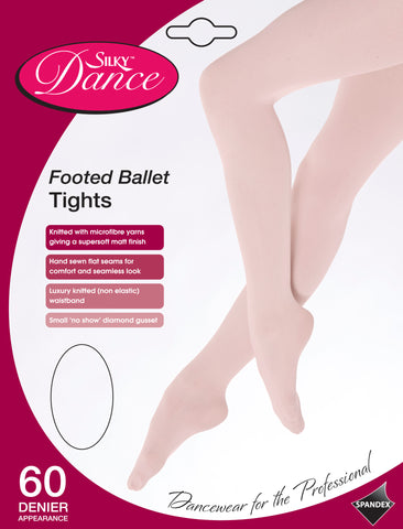 Silky Full Footed Ballet Tights - Pink