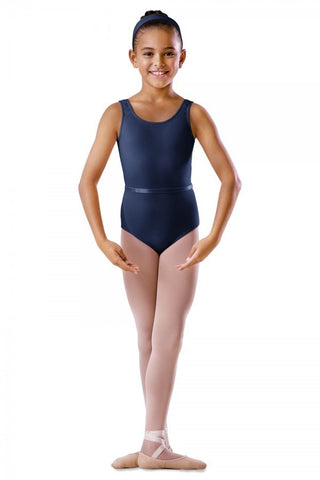 BU101C Navy Round Neck Tank Leotard