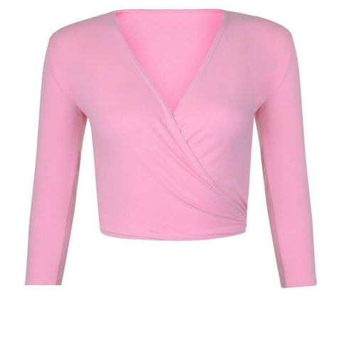 XOVER Pink Freed Wrap Top