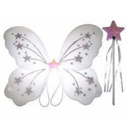 White Fairy Wings & Wand Set