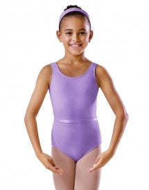BU101C Lavender Round Neck Tank Leotards