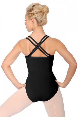 Sophie Roch Valley Black Cross Strap Leotard