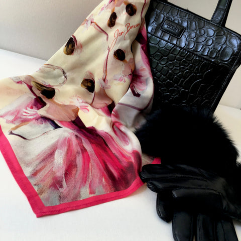 'Waltz of the Flowers' Silk Scarf