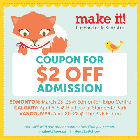 Make it Show Vancouver Spring 2018 coupon