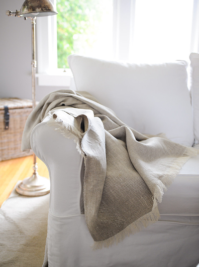 Two-tone Twill Weave | Linen Throw