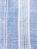 Linen Bath Sheet | Blue & White Striped 2
