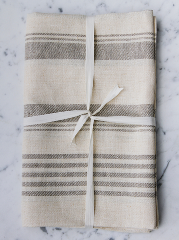 Natural Striped | Bath Sheet