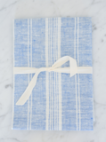 Linen Hand Towel | Blue & White Striped
