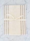 Natural Striped | Tea Towel