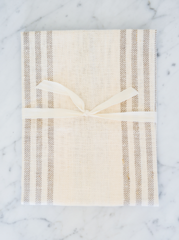 Natural Striped | Tea/Hand Towel