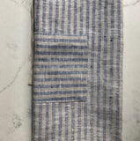 Apron 100% linen- indigo & natural striped