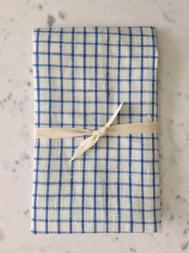 gingham blue & white | Tea/Hand Towel