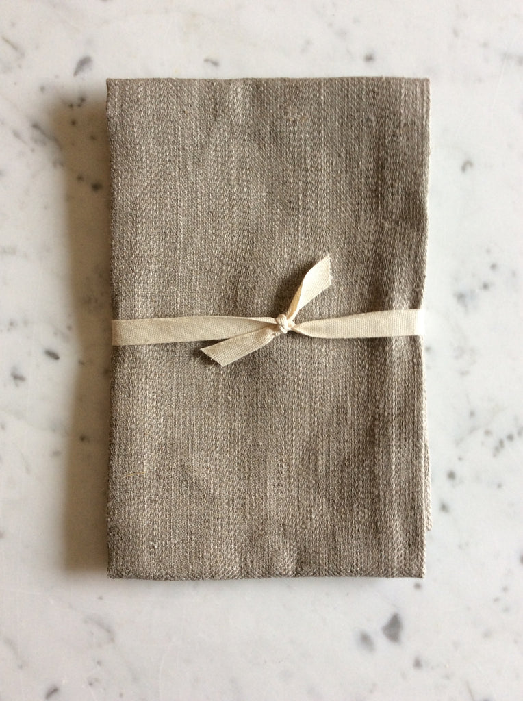Natural linen Herringbone Weave | Tea/Hand Towel