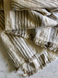 Striped cream & natural | Linen Throw