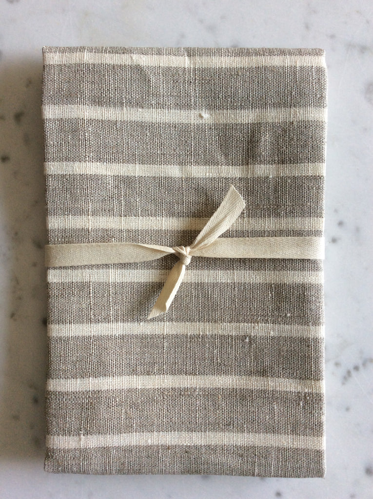Natural thin striped  | Tea/Hand Towel