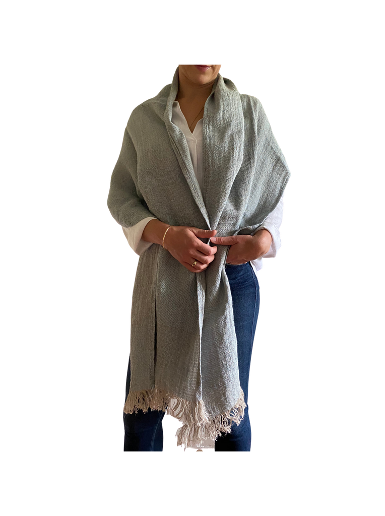 Luca scarf- wrap -gorgeous textured linen